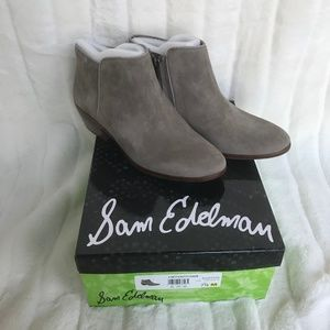 Sam Edelman Petty Chelsea Booties in Putty Suede